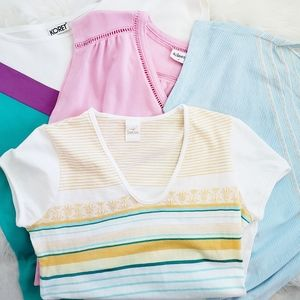 Vintage Tee Set 1980's Casual Set of 4 Size Small